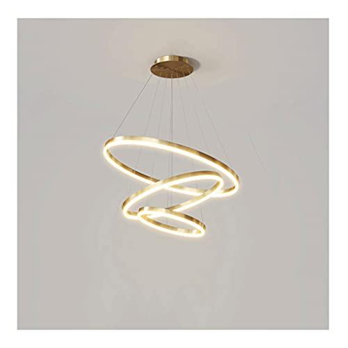 binnen Ring gouden kroonluchter, 3 lichten, Europees modern minimalistisch ontwerp, hanger plafondlamp in de woonkamer…