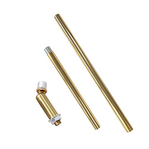 BOKT Downrod Extension Lamp Stem Pendant Light Extension Rod With Threaded Tube, Sloped Ceiling Adapter Kits for Ceiling Pendant Light, Suitable for Vaulted or Angled Ceilings (EP Gold)