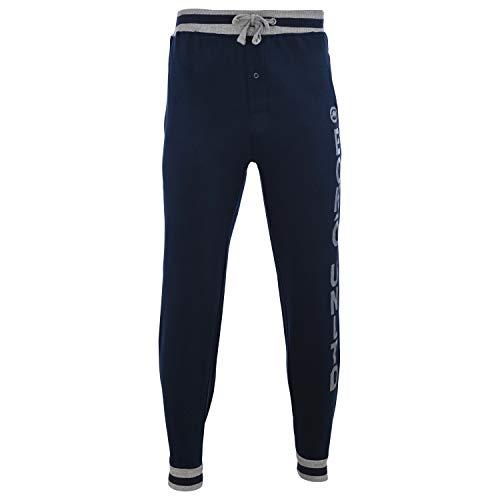 Ecko Unltd. Men's Cotton Fleece Jogger | Moisture Wicking Pajama Pant| 60% Cotton / 40% Polyester (Navy, X-Large)
