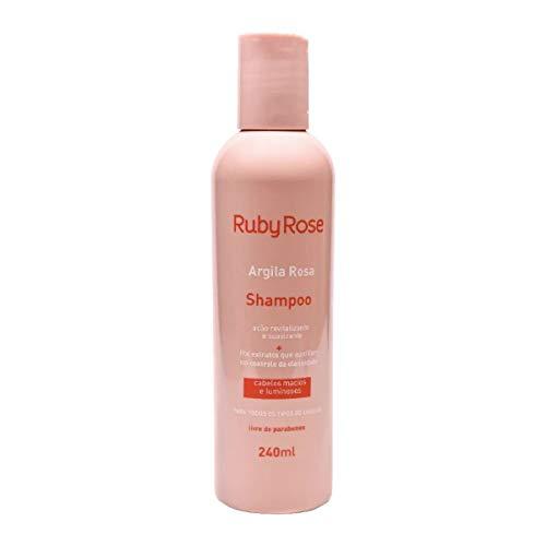 RUBY ROSE SHAMPOO ARGILA ROSA - 240ML limpeza equilibrada