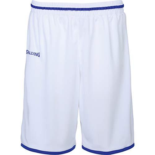 Spalding Unisex-Child 300514004_152 Shorts, White,Blue
