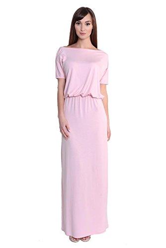AE Damen Abendkleid Dress Sommerkleid tailliert Kleid Lang Maxi Kleid elastischer Bund, 8207...