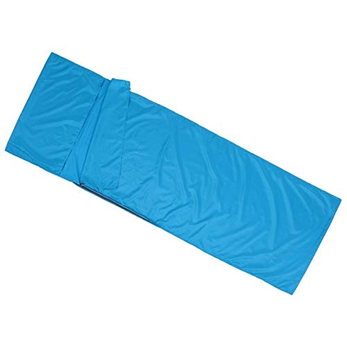 Sjzwt Outdoor-Reisen Camping Wandern Polyester-Rohseide gesunde Schlafsack Liner mit Pillowcase Tragbare Leichtbau 70x210CM (Color : Red)