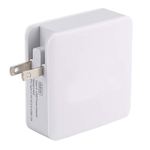 DJG USB-Ladegerät, 68W QC 3.0 / PD USB-C/Typ-C + QC USB 3.0 + USB-Anschlüsse Faltbare Ladegerät, US-Stecker