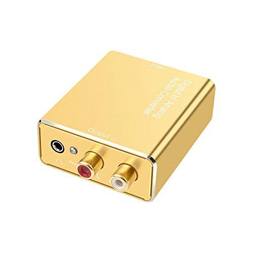 MNAD Convertidor de Audio de Fibra óptica Digital Esterafonía 3.5mm Jack óptico for RCA Adaptador for Saucy TV PS4 Altavoz del Amplificador