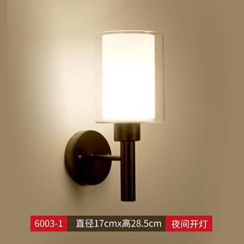 Agorl Nordic lampe de chevet chambre lampe simple éclairage créatif salon applique murale allée, noir + lumière chaude 10 pack 588 yuans