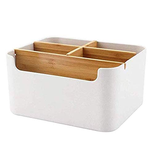 ADSE Caja de Almacenamiento - Escritorio Caja de Almacenamiento de bambú Misceláneas Acabado Escritorio Caja de Almacenamiento Multiusos