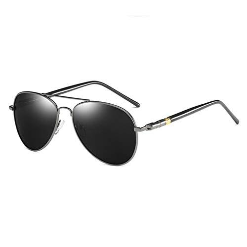 UKKD Gafas De Sol Para Hombre Moda Piloto Hombres Polarizadas Gafas De Sol Polarizadas Metal Aviación Masculina Gafas De Sol Classic Black Driving Shades Uv400