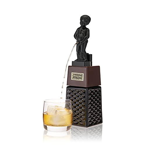 True Bonny Boy Liquor Gag Gifts, 16 oz Beverage, Wine, Beer, Whiskey, Vodka, Gin, Alcohol Dispenser, Black