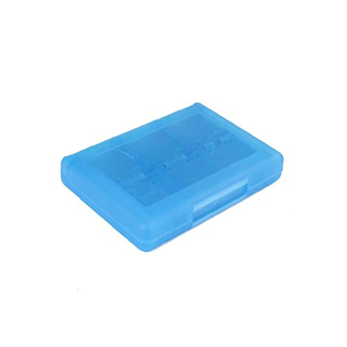 Caja de Cartucho con Soporte para Tarjeta de Juego 28 en 1 para Videojuegos Nintendo 3DS (Azul)