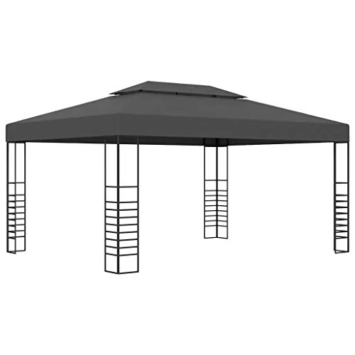 Sunlight Garden Gazebo Marquee, Patio Sunshade Shelter, Gatherings, Weddings, BBQ Parties, Camping 3x4 m Anthracite