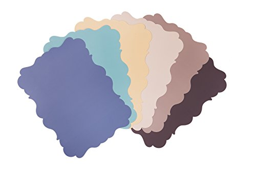 Excelsa Country Chic Set Tovagliette, Polipropilene, Multicolore, 32.5x45x0.2 cm, 6 unità