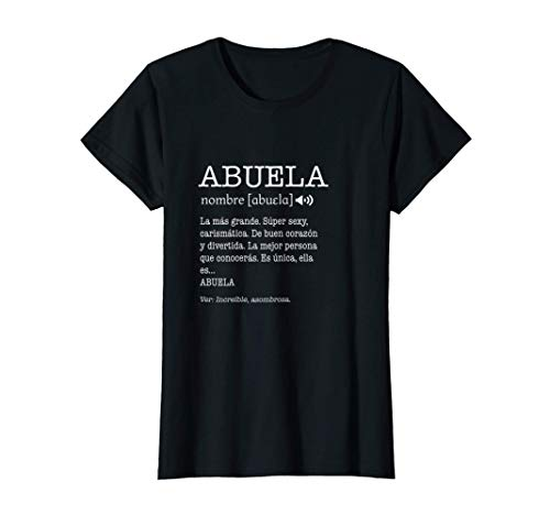 Regalo para Abuela con Nombre Divertido Significado Familia Camiseta
