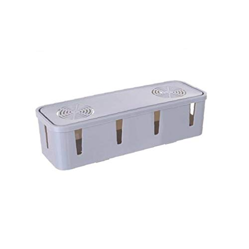 1 PCS alimentación de la caja de cable para Escritorio y TV y de gestión de cables de ordenador Ocultar cables por todo Electric & Power Strips (color al azar) para el almacenamiento