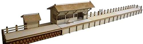 Yagisawa station HO gauge 00517 (paper structure painted finished goods) (japan import)