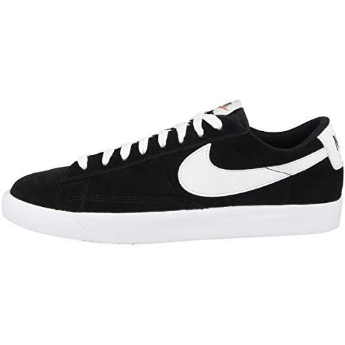 Nike Blazer Low Premium Vintage Suede, Scarpe da Basket Uomo, Black/White, 42.5 EU