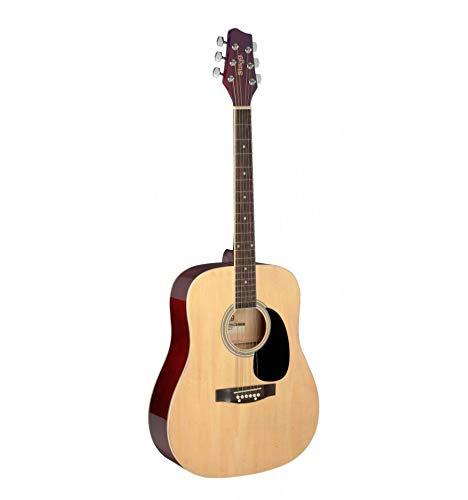 Stagg Dreadnought - Guitarra acústica (tamaño 1/2), color natural