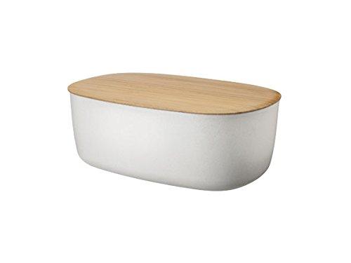 RIG-TIG Box-It Brotkasten in weiß mit Deckel aus Bambus