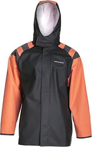 Grundéns Men's Balder 302 Hooded Fishing Jacket, Orange - X-Large