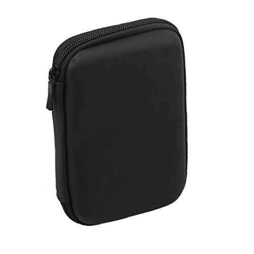 Gracy Mini USB 3.0 / USB 2.0 de 1 TB de Disco Duro móvil Externo 301558 Compacto de Disco Duro portátil Case-Negro, Bolsa de Almacenamiento