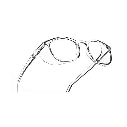 Sobre-anteojos Gafas de seguridad HD Blue Light Blocking Goggles Gafas de seguridad con protectores laterales para hombres y mujeres (Transparent)