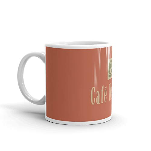 "Cafe Nervosa sign €"" Frasier, Seattle 11 Oz White Ceramic.11 Oz Ceramic Glossy Mugs Gift For Coffee Lover."