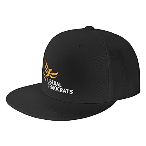 Nologo Liberal Democrat Black Baseball Cap Flat Hat Pop It Adjustable Fashion Hats Make The