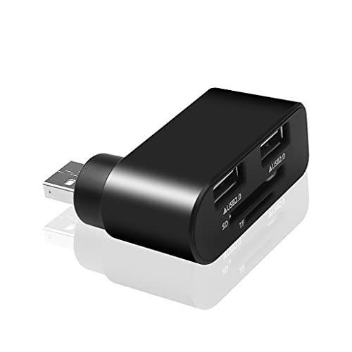 Yousiju Multi Usb2.0 Hub 2 Adaptador de Puerto Divisor Interfaz de alimentación Lector de Tarjetas SD TF para computadora portátil
