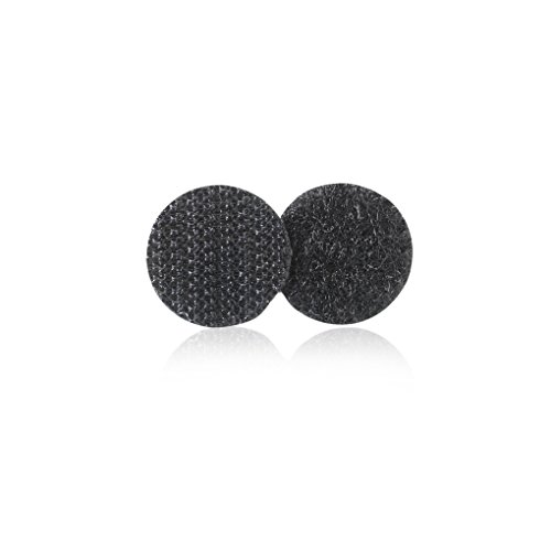 VELCRO Brand - Sticky Back Hook and Loop Fasteners | Perfect for Home or Office | 5/8in Coins | Pack of 15 | Black