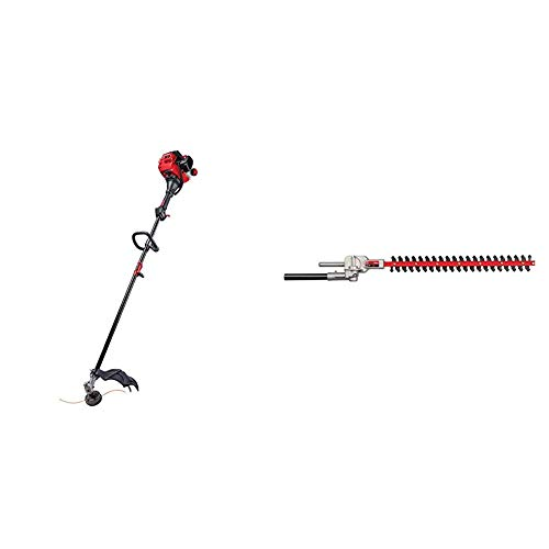 Lowest Price! Craftsman CMXGTAMDAZ25 Straight Shaft Gas Trimmer and Dual Hedger Attachment