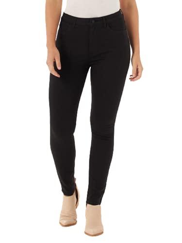 Wrangler Women's High Rise Unforgettable Skinny Jean, Black, 10