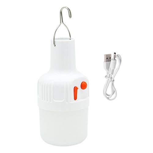 lahomia Patio de La Lámpara de Pesca de La Linterna Colgante Brillante de La Luz de La Tienda de Campaña del LED - Carga USB