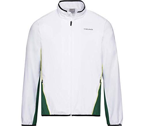 HEAD Herren Club Jacket M Tracksuits, White/Green, L