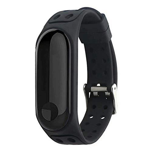 endubro Cinturino per Fitness Tracker Xiaomi Mi Band 3 (Nero)
