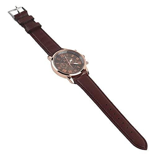 DBSUFV Números Elegantes Casuales universales Reloj de Cuarzo de aleación de Cuero de PU Accesorio de Relojes de Pulsera de diseño de Moda