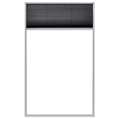Lahomie- Mosquitera plisada con ventana, mosquitera con marco de aluminio blanco, mosquitera...