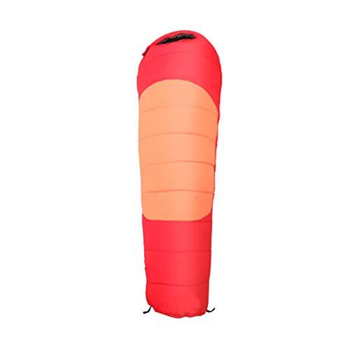Wusfeng Couleur de Contraste en voyageant Sac de Couchage Léger et Confortable Tissu Etanche Sac de Couchage en Duvet Chaud et Confortable avec Sac de Compression étanche Le Camping Randonnée Bonbons