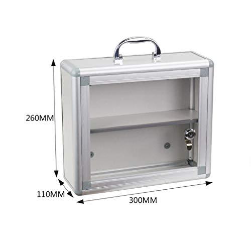 Muur Mount staal medische geneeskunde opslagkast met glazen deur medische doos met slot