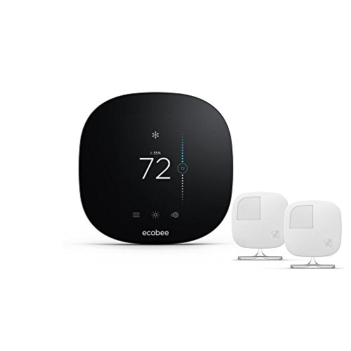 ecobee 3 ecobee3 Lite Smart Thermostat 2 Room Sensors, Black