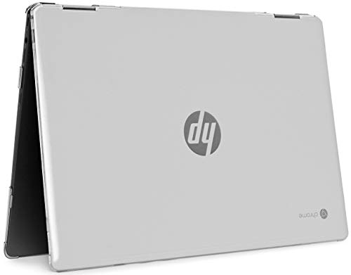 mCover Hard Shell Case for 14' HP Chromebook X360 14-DA0000 Series laptops (NOT Compatible with Other HP Chromebook & Windows laptops) (Clear)