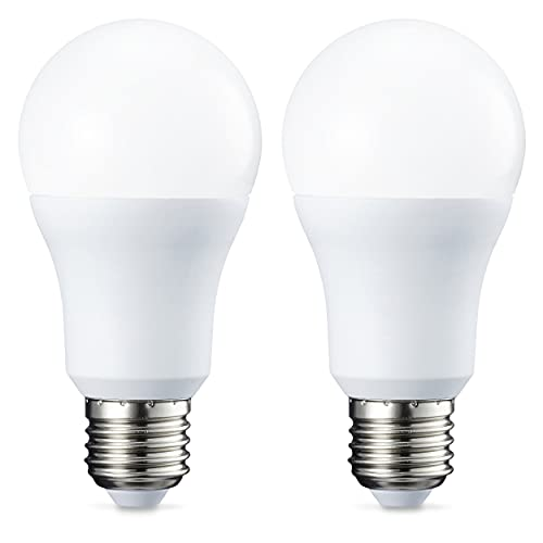 Amazon Basics Lampadina LED E27, 10.5W (equivalenti a 75W), Luce Bianca Calda - Pacco da 2