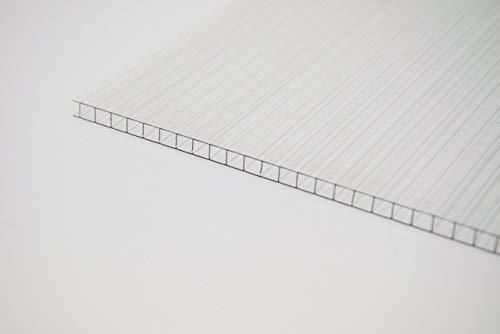 Stegplatte 4mm aus Polycarbonat, klar, Steg 2 Fach - Zuschnitt möglich! 2100mm x 2000mm (B x T)
