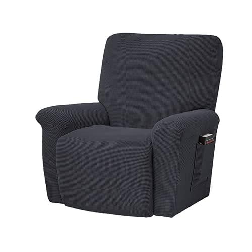 QLWY Funda reclinable, Funda elástica para sofá con Fondo Elástico, Funda Suave de Forro Polar, Tela Jacquard Gruesa Suave Lavable, para Muebles (C/7)