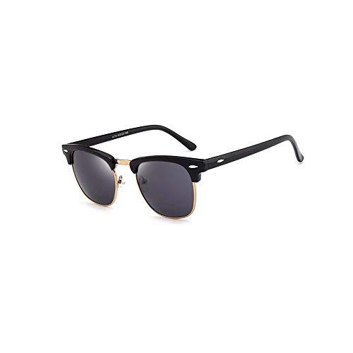Top selling 2019 Zwarte Spiegel Lens Hot Sale oculos de sol feminino zonnebril Heren Klassieke Wenkbrauwen Half Rim Zonnebril Mode Wenkgoed