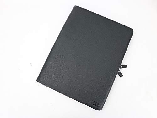 Hiject, Zippered Portfolio padfolio, File Folder, Document Organizer, Business Portfolio, Document Folder, File Organizer, Saffiano Leather, 10 x 13 in