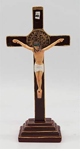 Cruzar Soporte De Cruz De Resina De 8 Pulgadas con Crucifijo Figura Religiosa Crucifijo Cruzado Jesús Estatuilla Collar (Cross Size : 8 Inches)