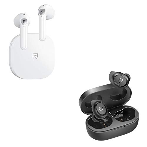 SoundPEATS TrueFree2 and TrueAir2 White