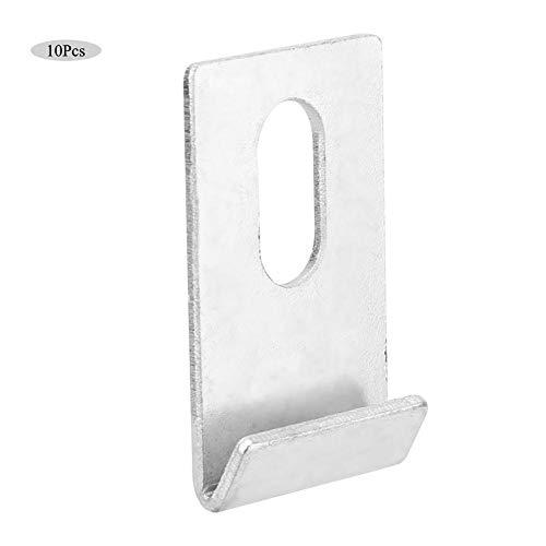 Jeffergarden 10er Gewächshaus Basis Clips Silber Metall Befestigungen Attaches Kit Outdoor Tool