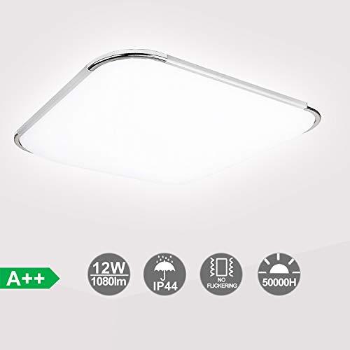 HENGDA® 12W 15W 18W 36W 48W LED Deckenleuchte Modern Deckenlampe 6000K-6500K Weiß Flur Wohnzimmer Lampe Schlafzimmer 85V-265V Energiespar (12W)