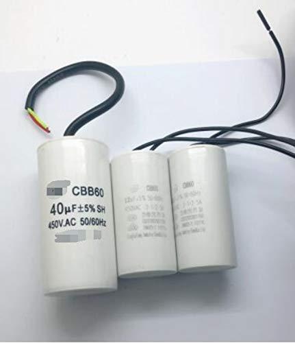NO LOGO CCH-Drs, 1pc Inizio condensatore CBB60 Lavatrice condensatore 4/5/6/8/10/15/20 / 25UF Pompa a Secco disidratazione 450V (Size : 20UF 450V 74X37MM)